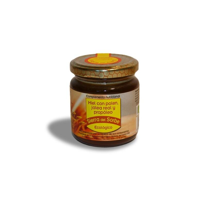 """Miel, Pólen, Jalea Real y Propóleo """"Sierra del Sorbe"""" 250 gr"""
