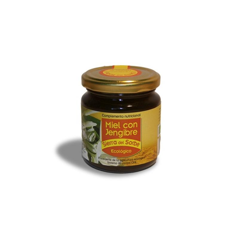 """Miel con Jengibre ecológico """"Sierra del Sorbe"""" 250 gr."""